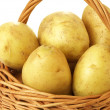 Wicker with potatoes, closeup — Stock Photo
