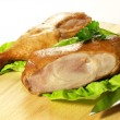 Grilled chicken legs, closeup — Stock Photo