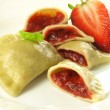 Dumplings with strawberry filling — Stock Photo