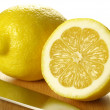 Lemon, isolated, close up — Stock Photo