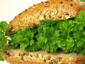 Dietary sandwich, closeup — Stock Photo