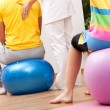 Balls exercises — Stock Photo