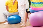 Cvičení koule — Stock fotografie