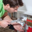 Handyman searching a solution — Stock Photo #37469863