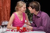 Romantic proposal — Stock Photo