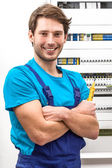 Portrait of a young handyman — Stock Photo