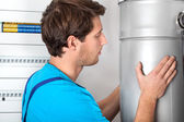 Boiler installation and handyman — Stock Photo
