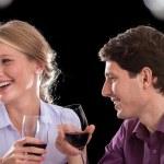 Funny wine conversation — Stock Photo
