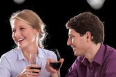 Funny wine conversation — Stock Photo