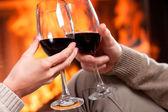 Red wine cheers — Stock Photo