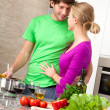 Stock Photo: Preparing romantic dinner