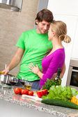 Preparing romantic dinner — Stock Photo
