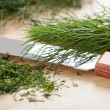 Cut dill and knife — Stock Photo #37731825