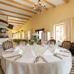 Mediterranean interior - set table — Stock Photo