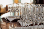 Mediterranean interior - glasses — Stock Photo