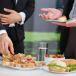 Business people at lunch buffet — Stock Photo #37821351