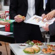 Foto Stock: Business meeting at breakfast