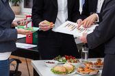 Incontro di lavoro a colazione — Foto Stock