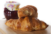 Croissants and jam — Stock Photo