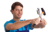 Man with tools — Stock Photo