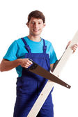 Carpenter during work — Stock Photo