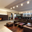 Stok fotoğraf: Spacious living room with couch