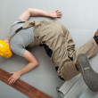 Fall from a ladder — Stock Photo