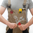 Stock Photo: Manual worker with tools