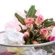 Stock Photo: Flowers in dustbin