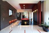 Modern interior with billiard table — Stok fotoğraf