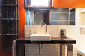 Modern washbasin area — Stock Photo