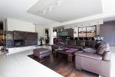 Spacious modern living room — Foto de Stock