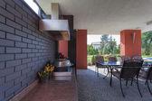 Luxurious terrace — Stock Photo