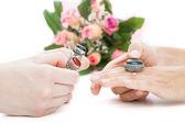 Choosing a ring — Stock Photo