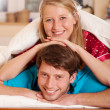 Marriage in pajamas — Stock Photo #38445407