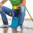 Stock Photo: Break at housework