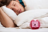 Fast asleep man — Stock Photo