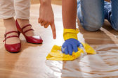 Cleaning floor — Stock Photo