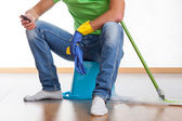 Break at housework — Stock Photo
