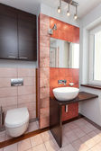 Spacious apartment - Bathroom interior — Stock Photo