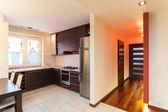 Spacious apartment - kitchen interior — Photo