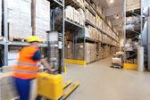Forklift operator — Stock Photo