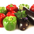 Threecoloured vegetables — Stock Photo