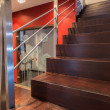 Stock Photo: Modern wooden stairs