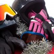 Hat, gloves and goggles — Stock Photo