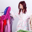 Woman trying clothes — Stock Photo #39222097