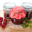 Raspberry jams and marmalade — Stock Photo #39277897
