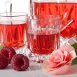 Постер, плакат: Proposition of serving raspberry liqueur