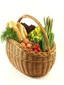 Shopping basket on isolated background — Stock Photo