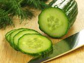 Cucumber, closeup — Stock Photo